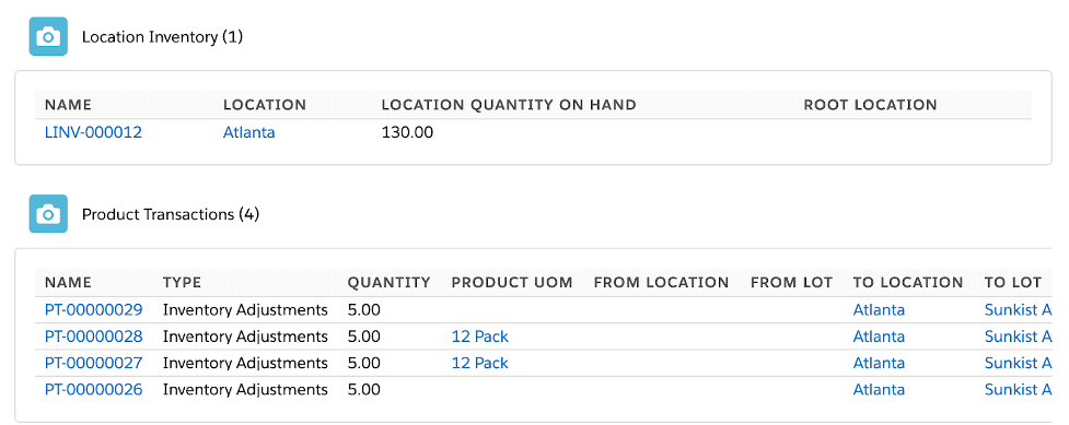 Location inventory