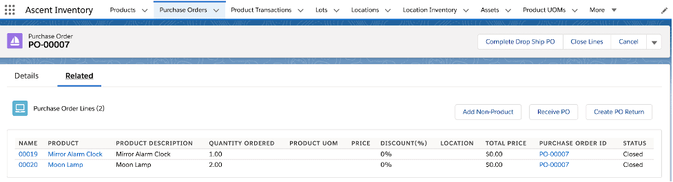 Dropshipped products